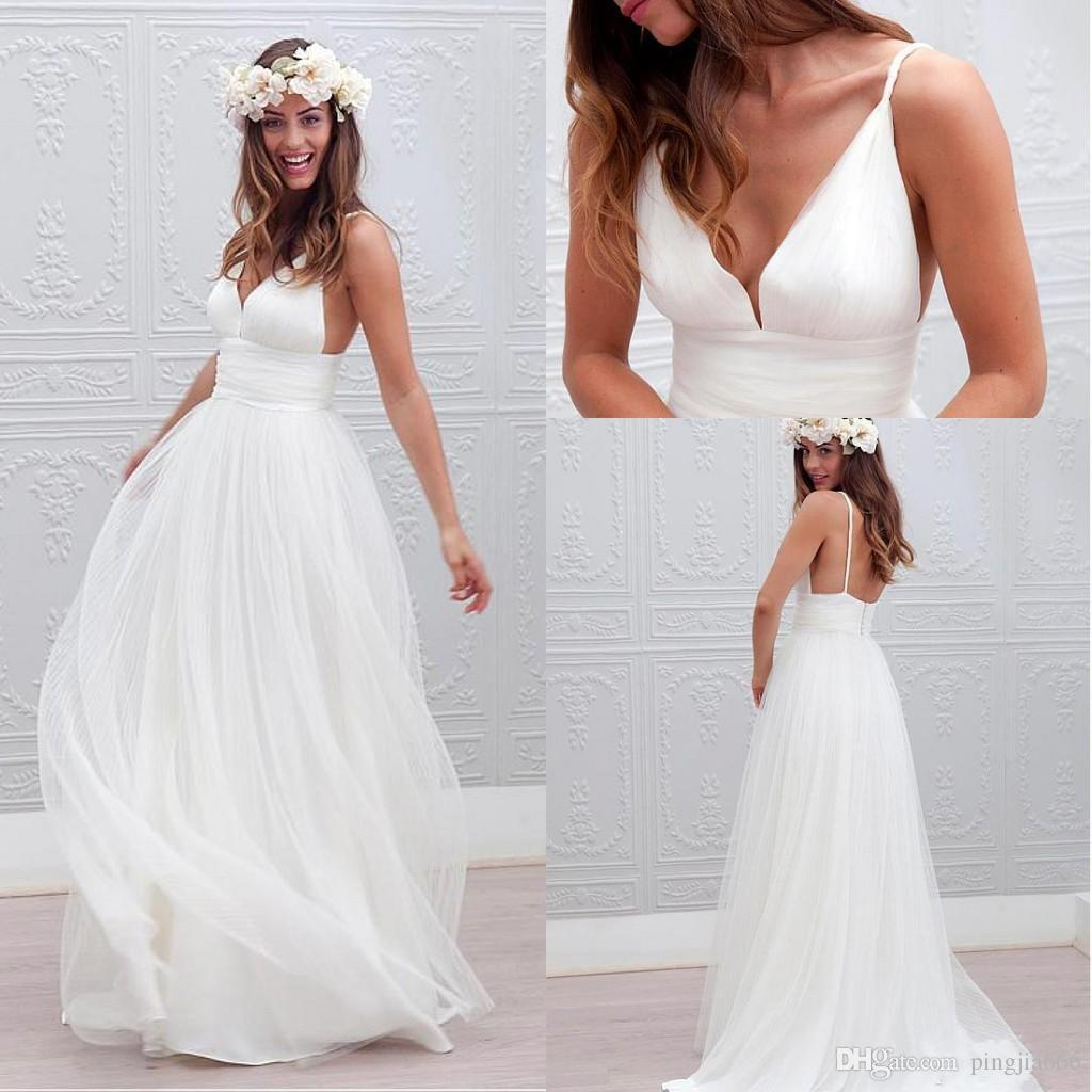 beach wedding dresses 2018 photo - 1