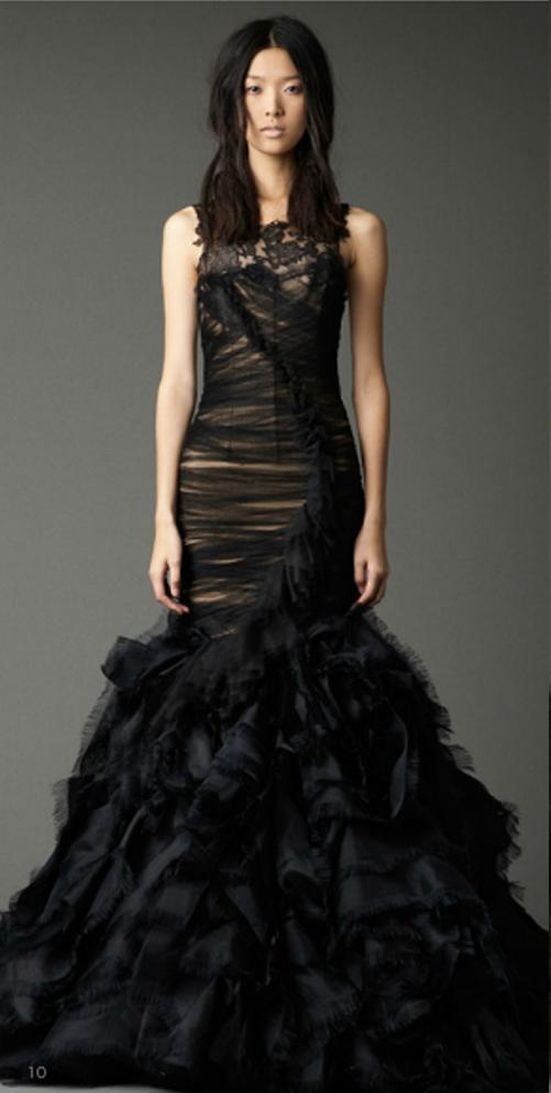black wedding dresses vera wang photo - 1