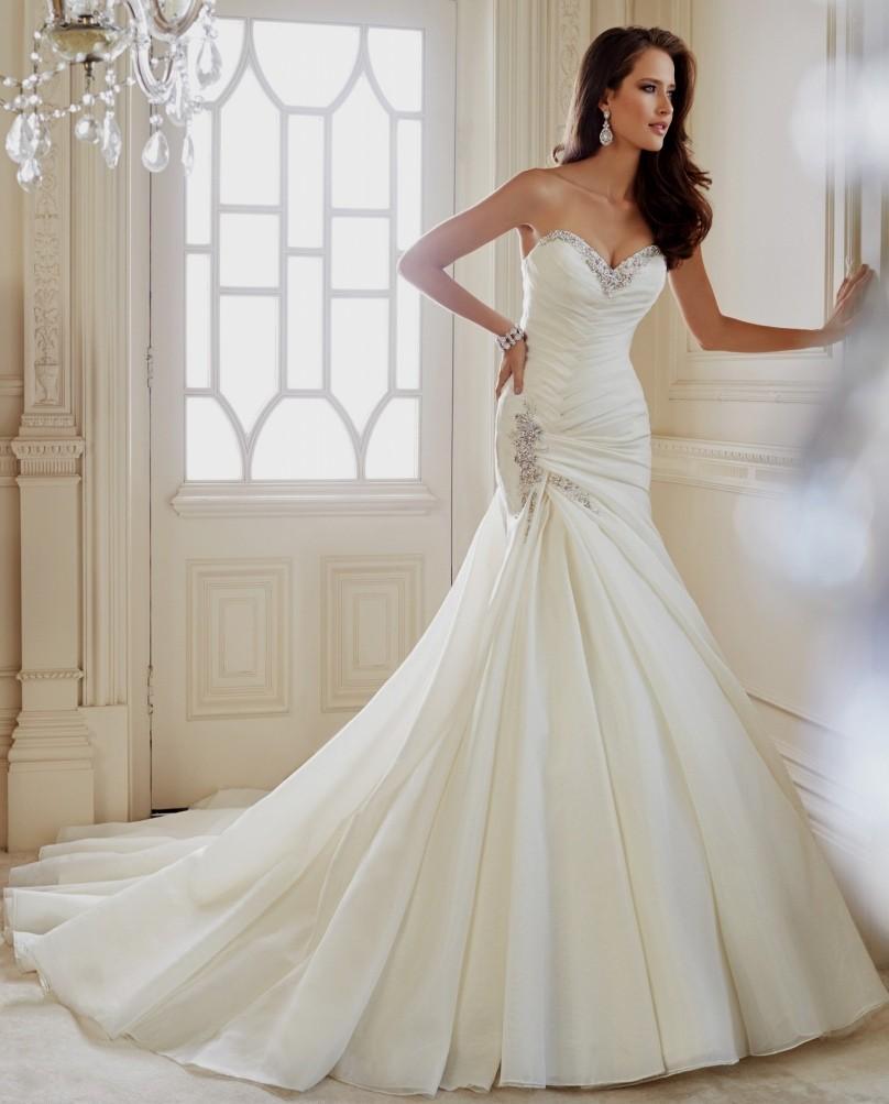 bling mermaid wedding dresses photo - 1