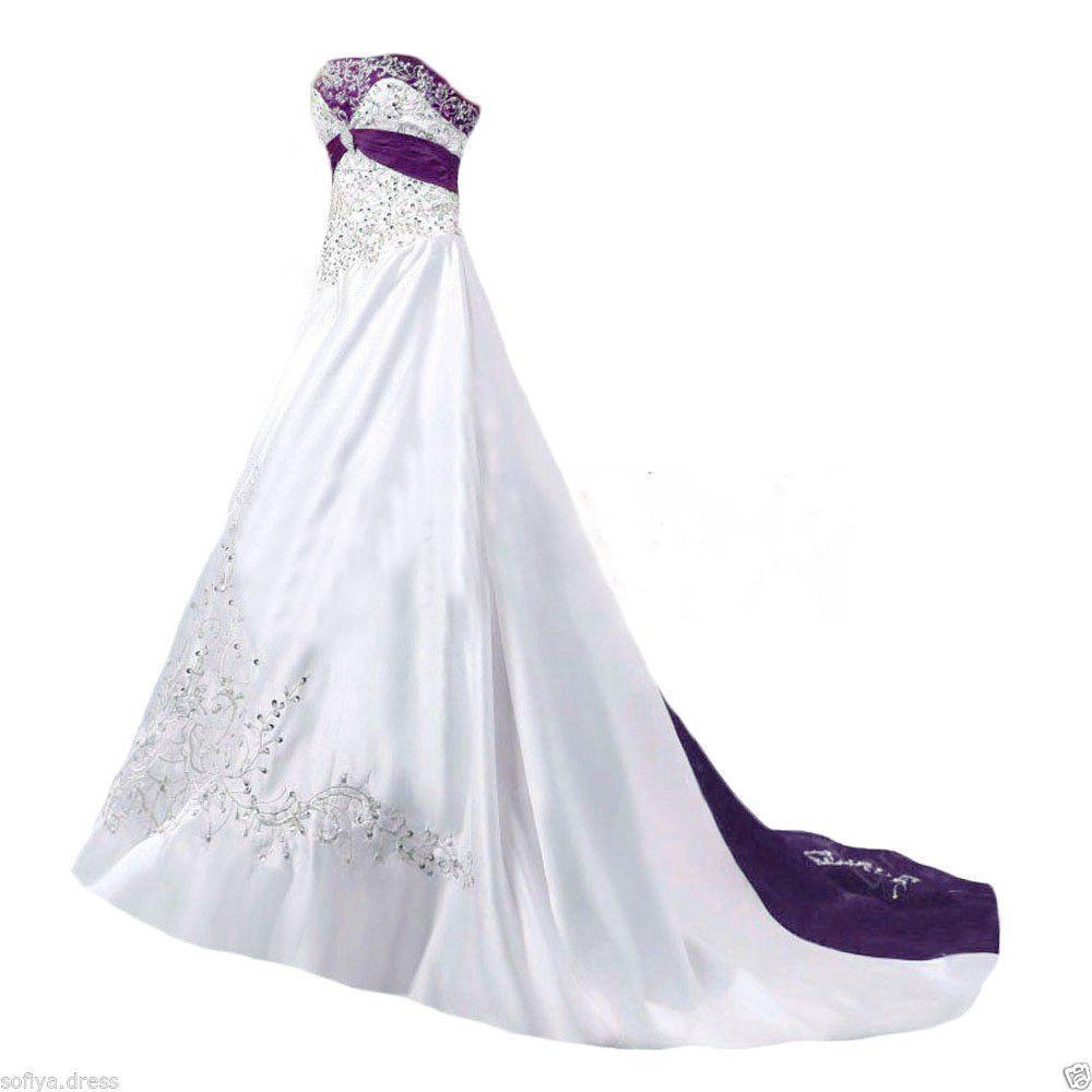 blue and white wedding dresses plus size photo - 1