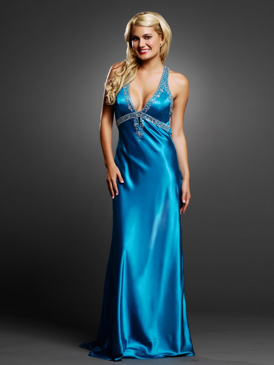 blue cocktail dresses for wedding photo - 1