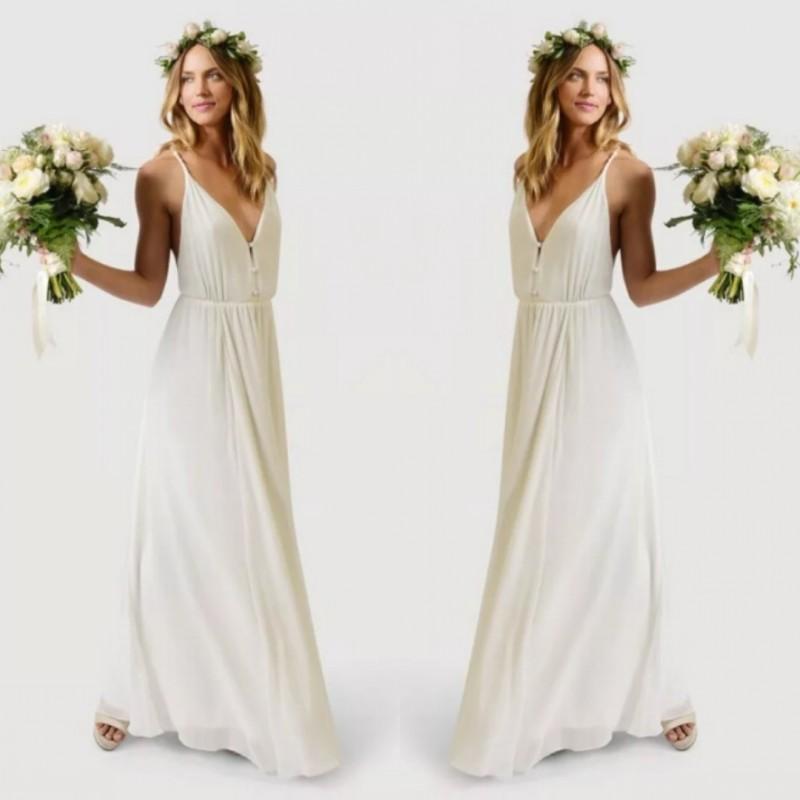 boho wedding dresses cheap photo - 1