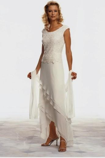 casual beach wedding dresses for older brides photo - 1