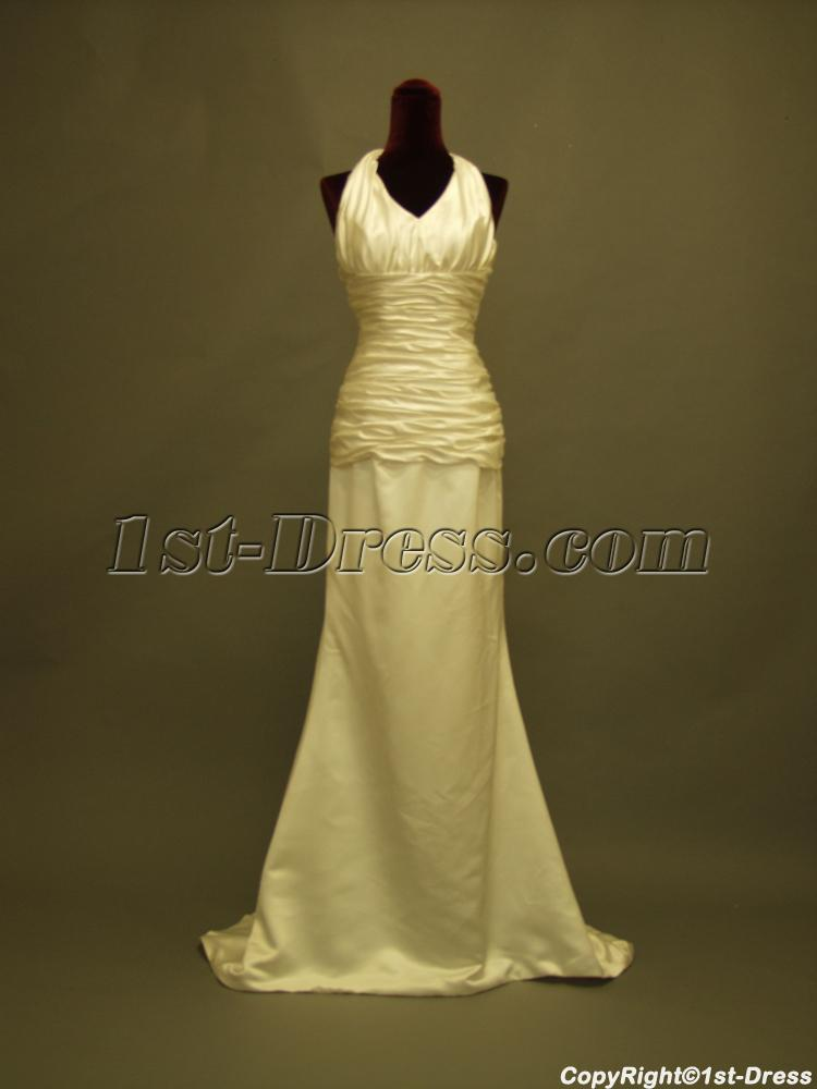cheap beach wedding dresses photo - 1
