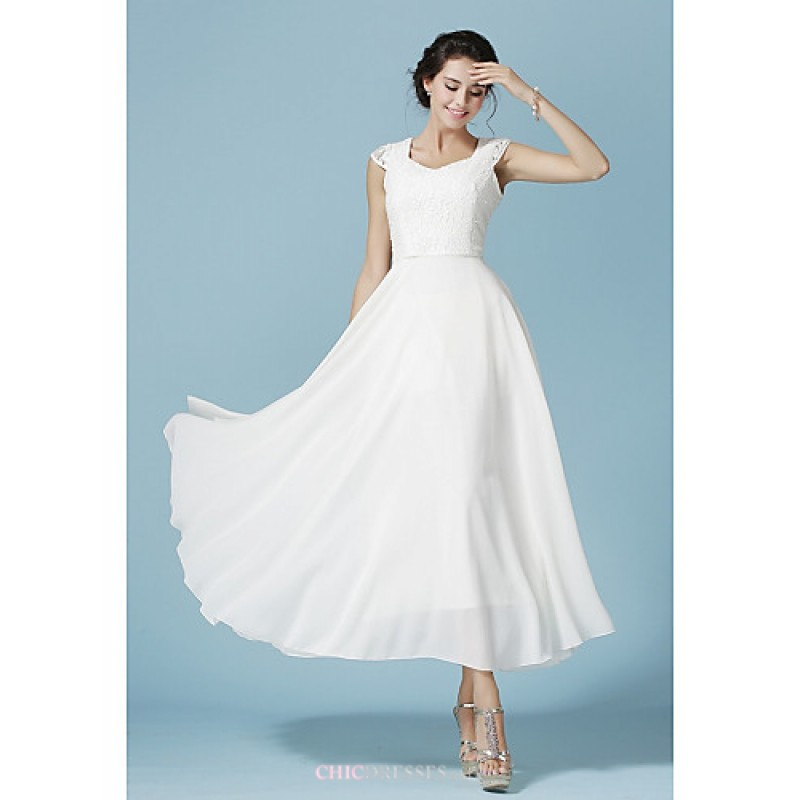 cheap blue and white wedding dresses photo - 1
