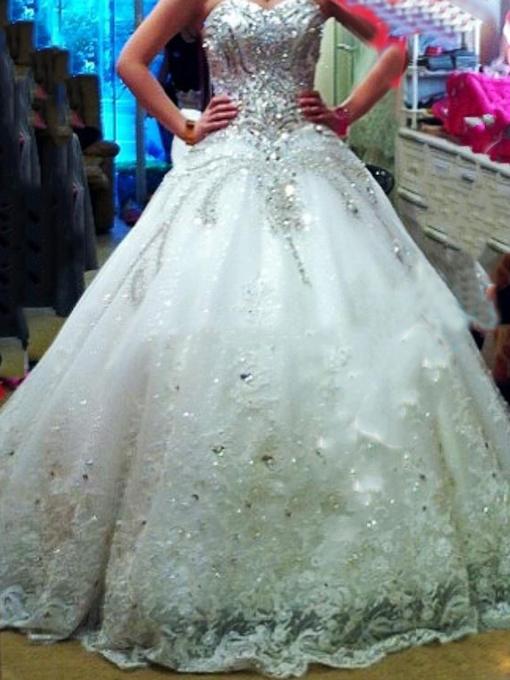 cheap plus size ball gown wedding dresses photo - 1