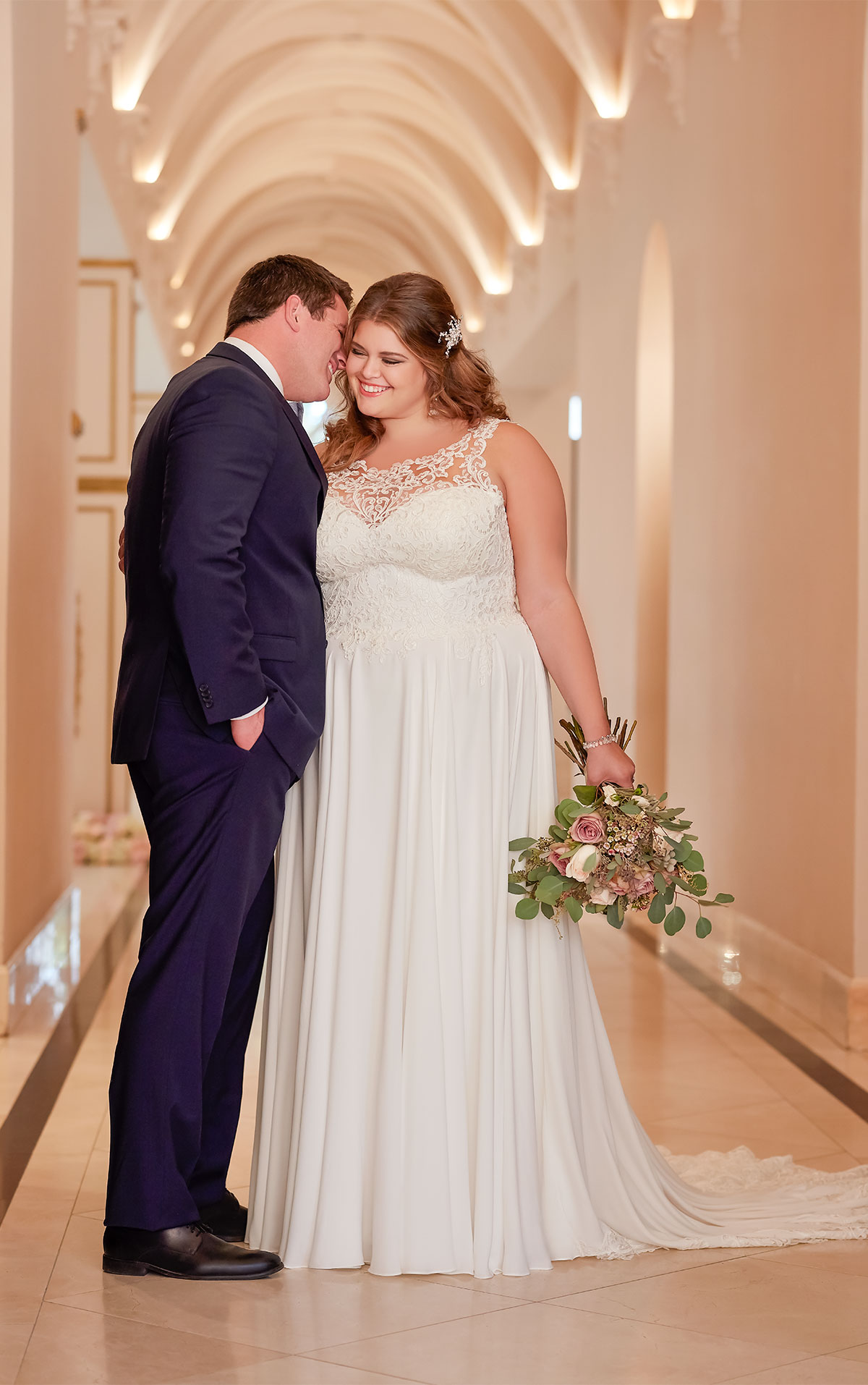 cheap plus size casual wedding dresses photo - 1