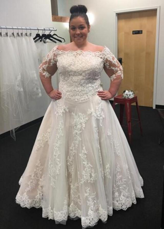 cheap plus size wedding dresses online photo - 1