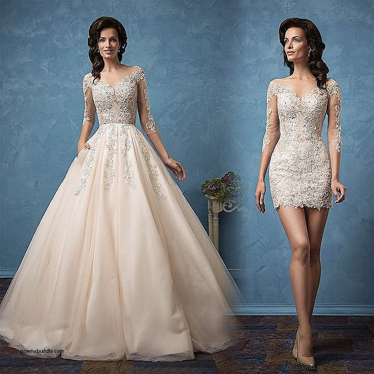 convertible wedding dresses detachable skirts photo - 1