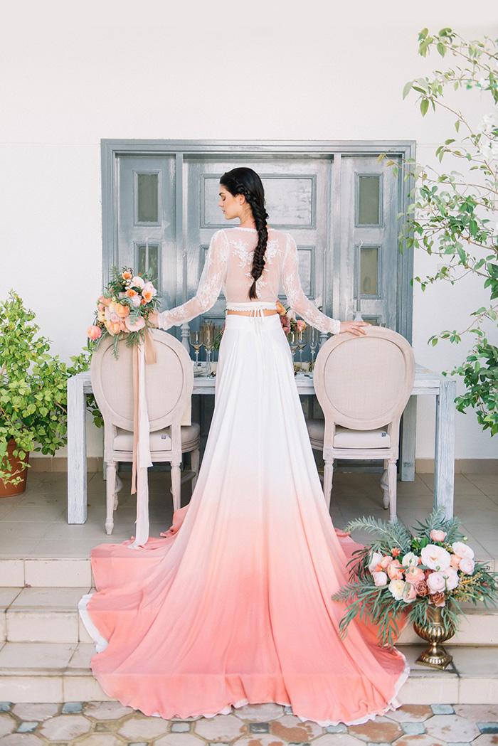 coral wedding dresses photo - 1