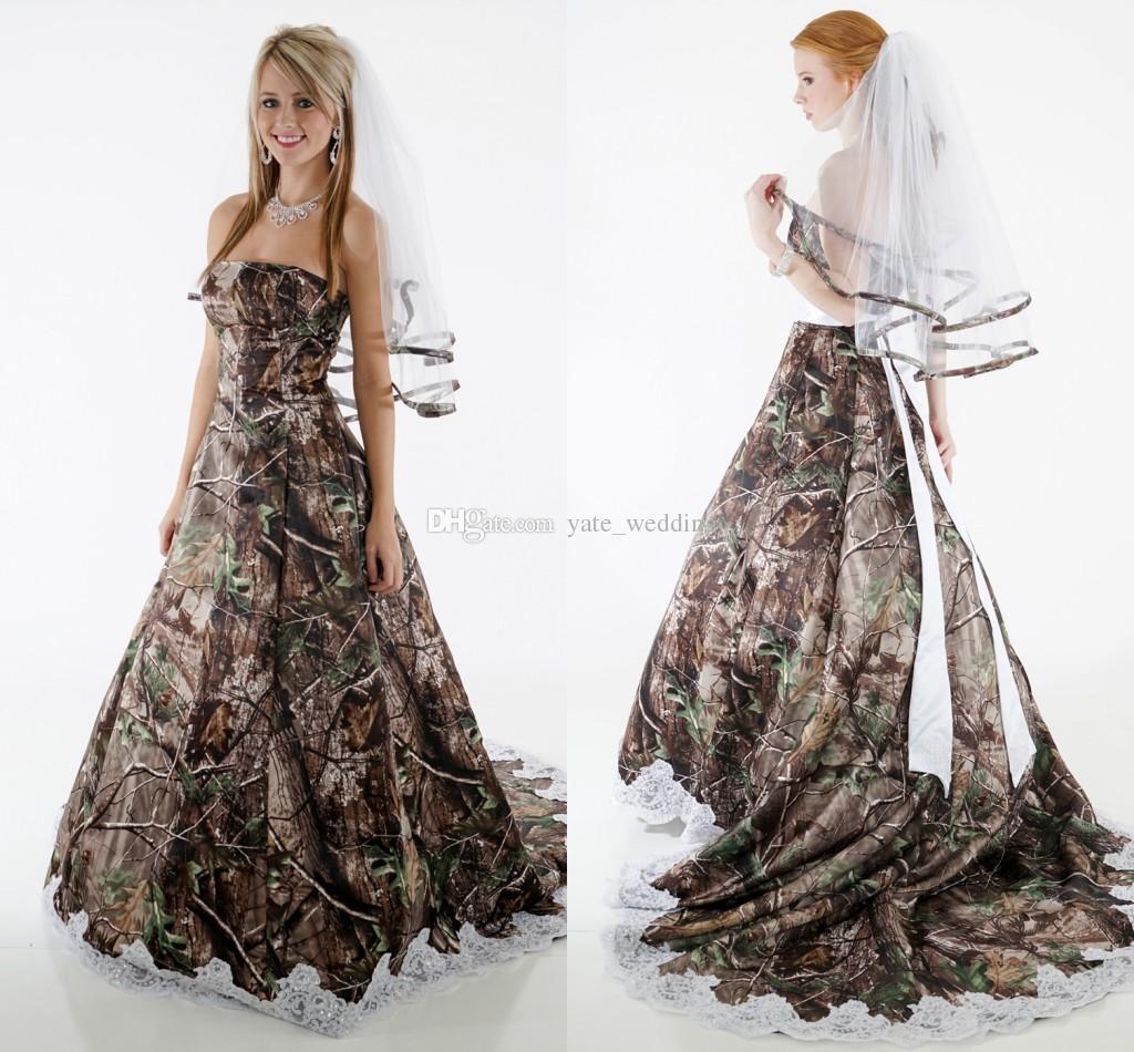 country camo wedding dresses photo - 1