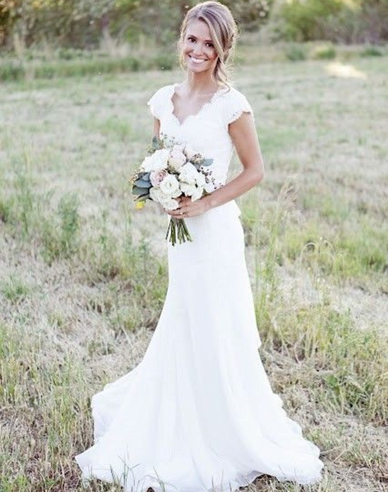 country style lace wedding dresses photo - 1