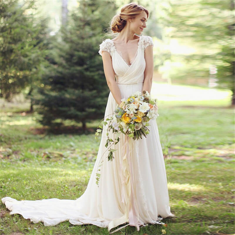 country wedding dresses cheap photo - 1