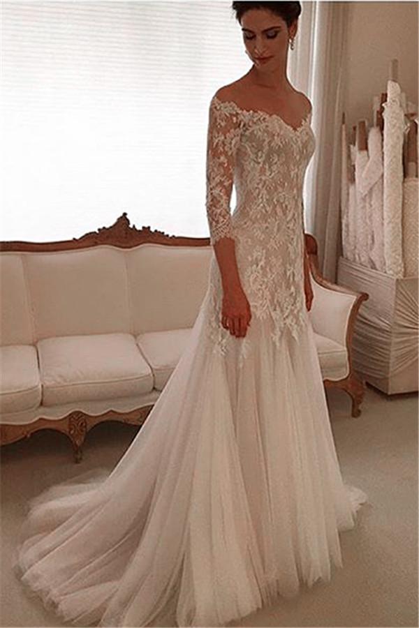 crochet lace wedding dresses photo - 1