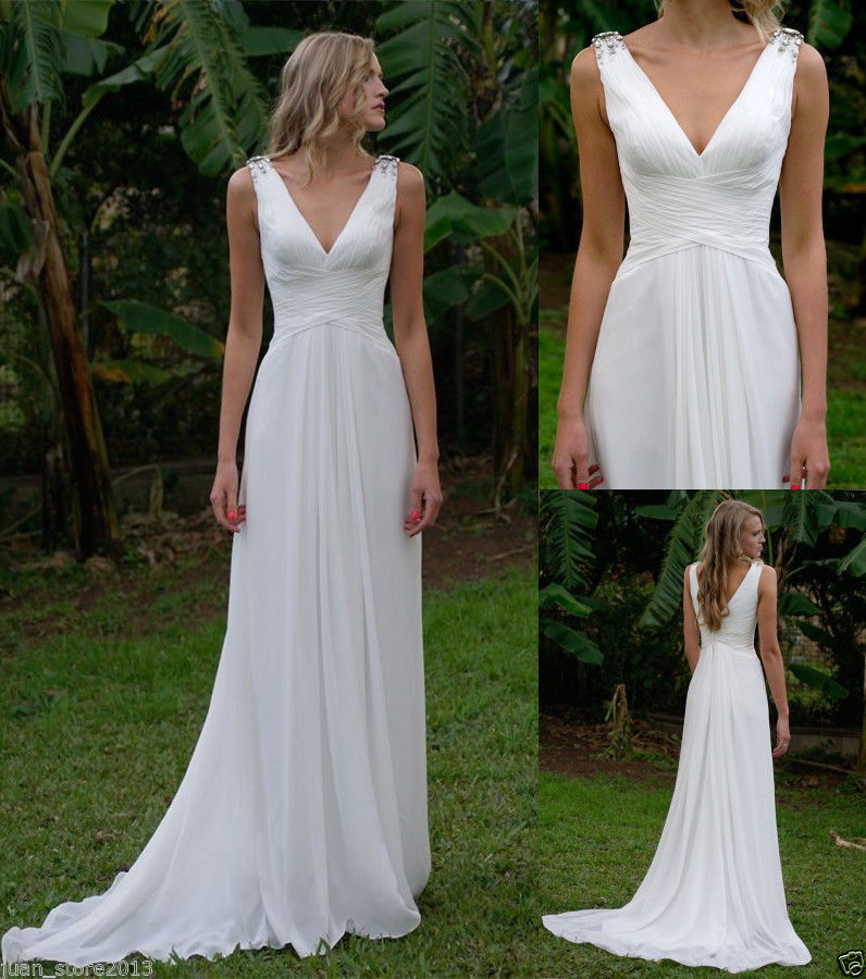 ebay beach wedding dresses photo - 1
