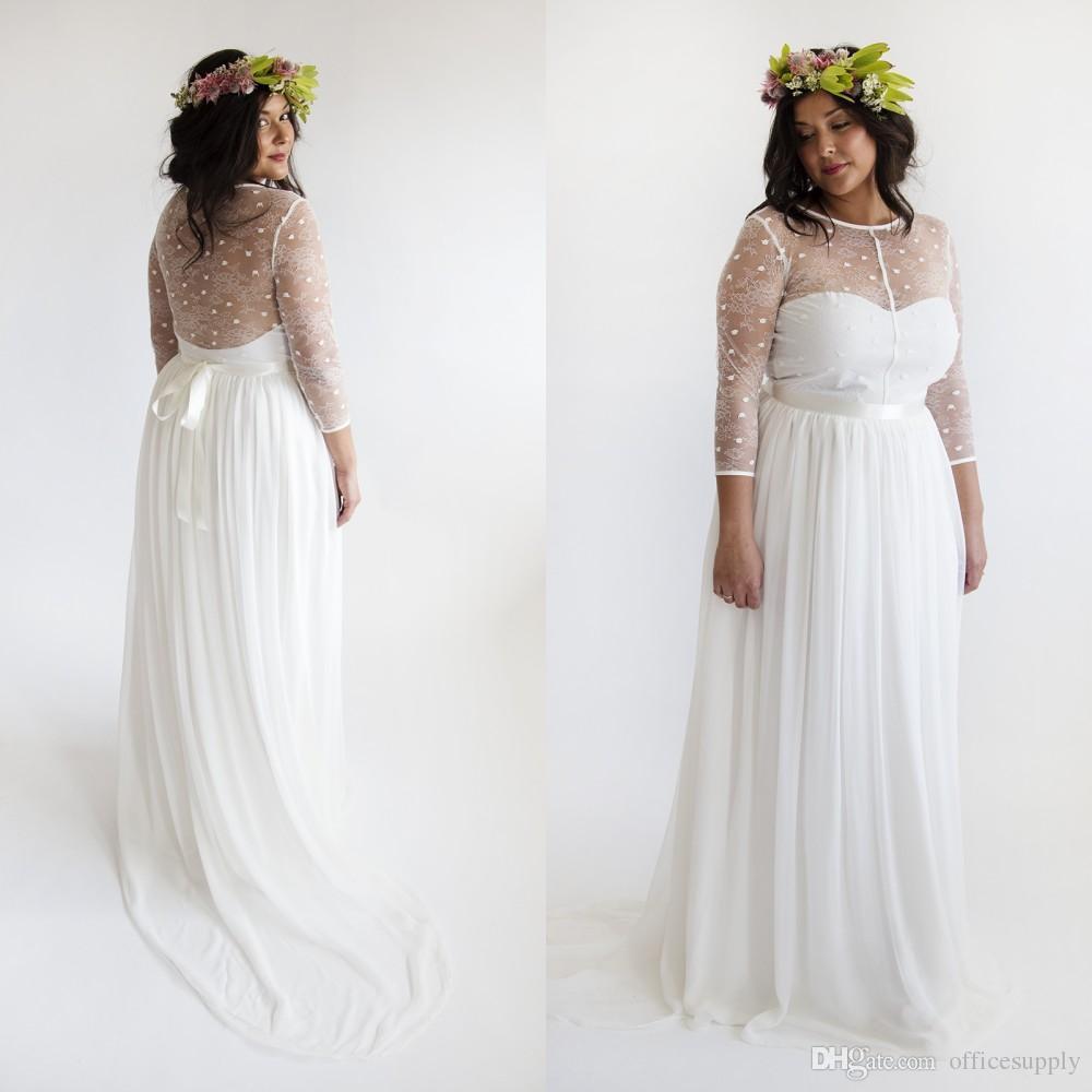 ebay wedding dresses plus size photo - 1