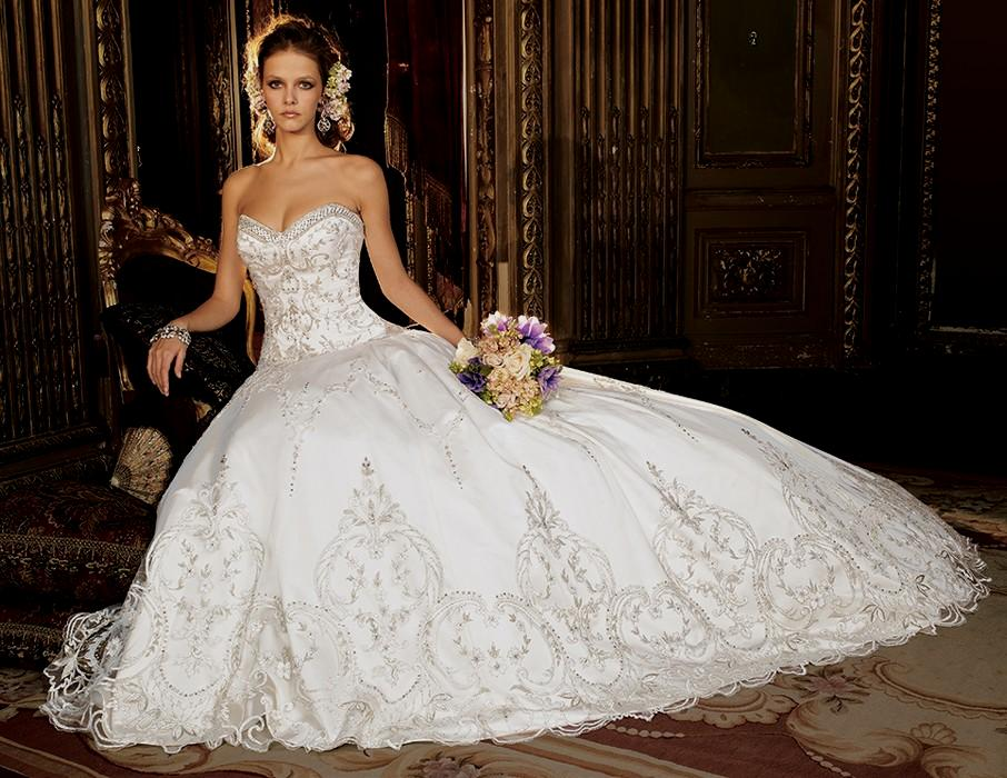 elegant ball gown wedding dresses photo - 1
