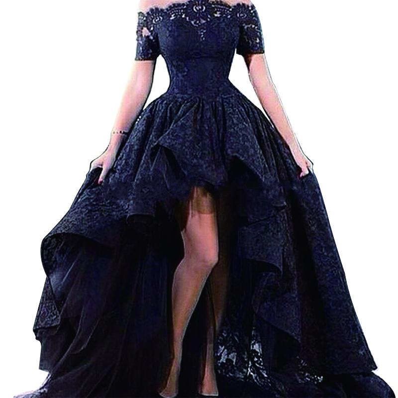 elegant high low dresses photo - 1