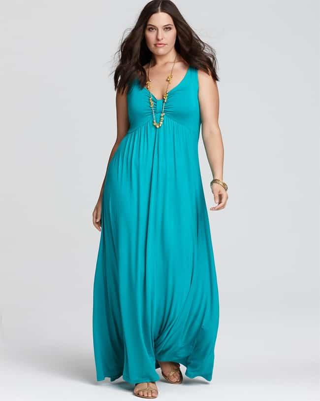 elegant plus size maxi dresses photo - 1