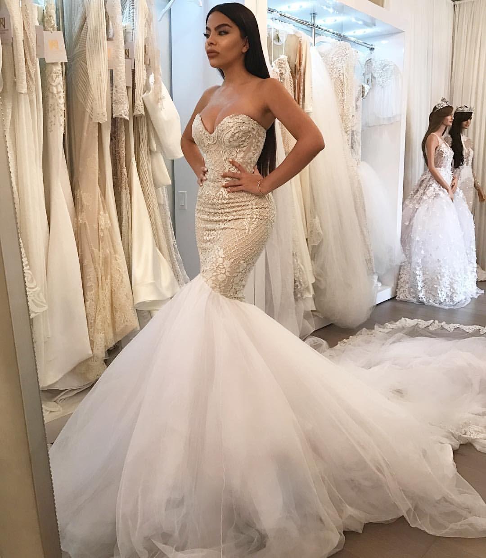 gorgeous mermaid wedding dresses photo - 1