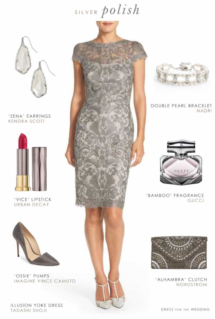 gray dresses for wedding guests photo - 1