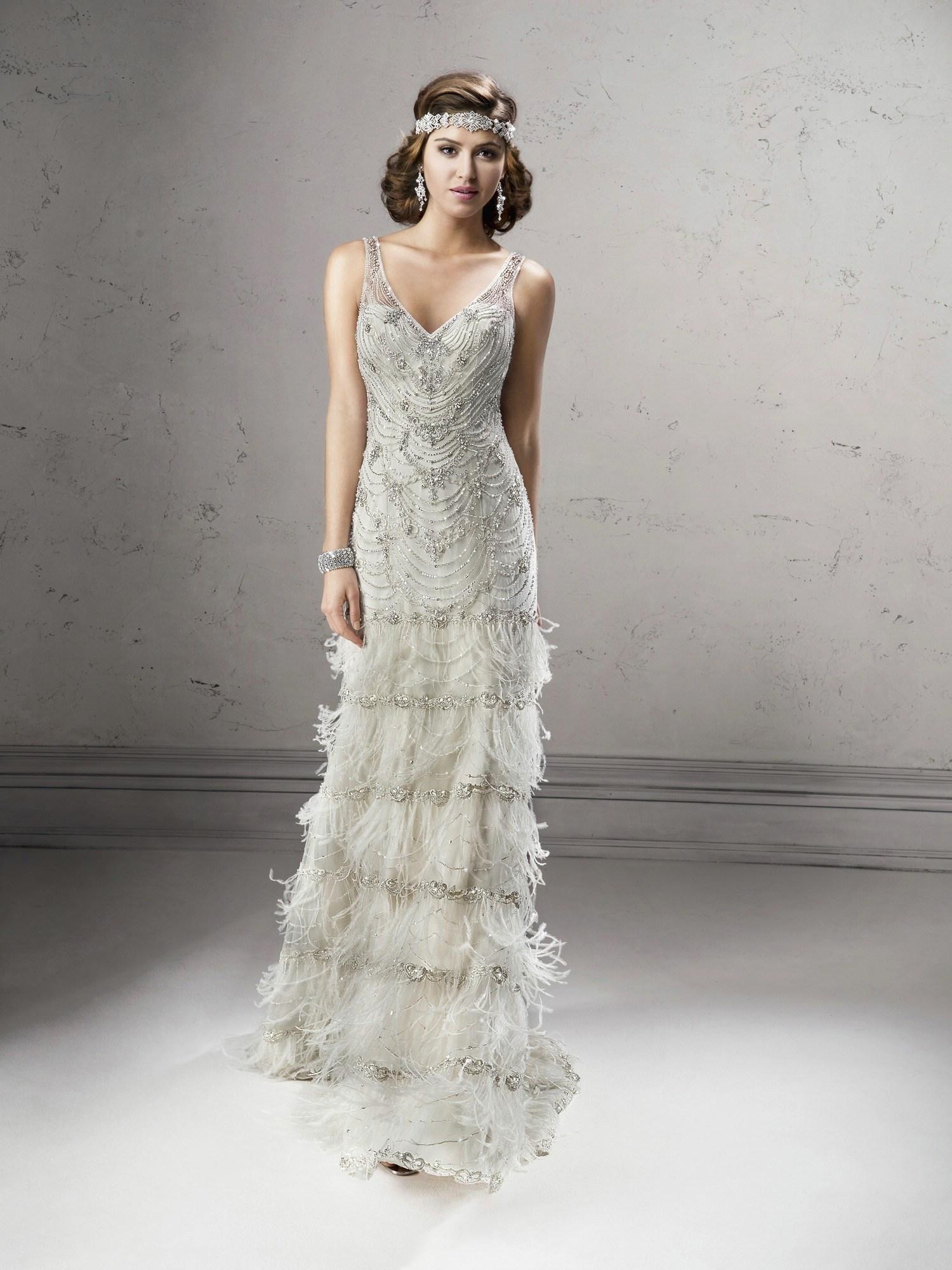 great gatsby inspired wedding dresses photo - 1