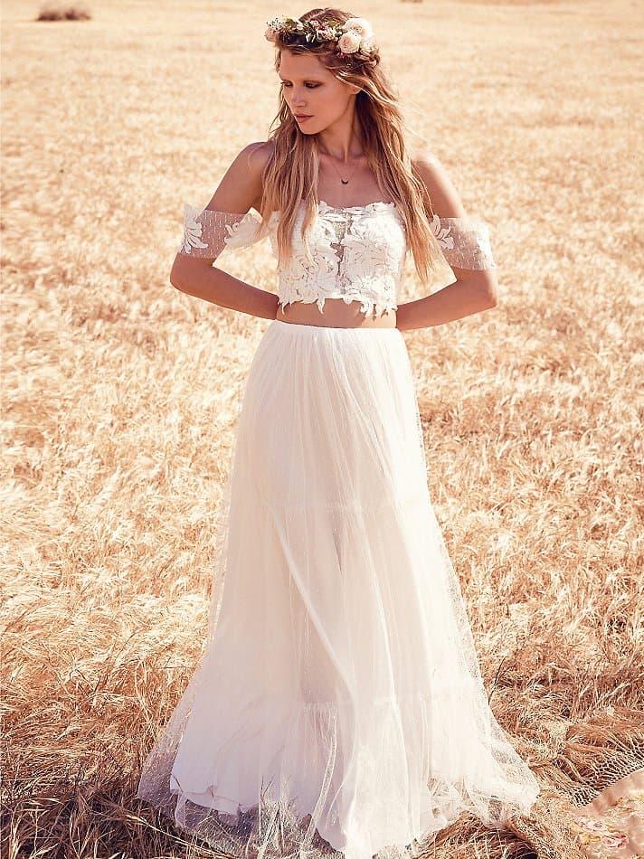 hippie inspired wedding dresses photo - 1