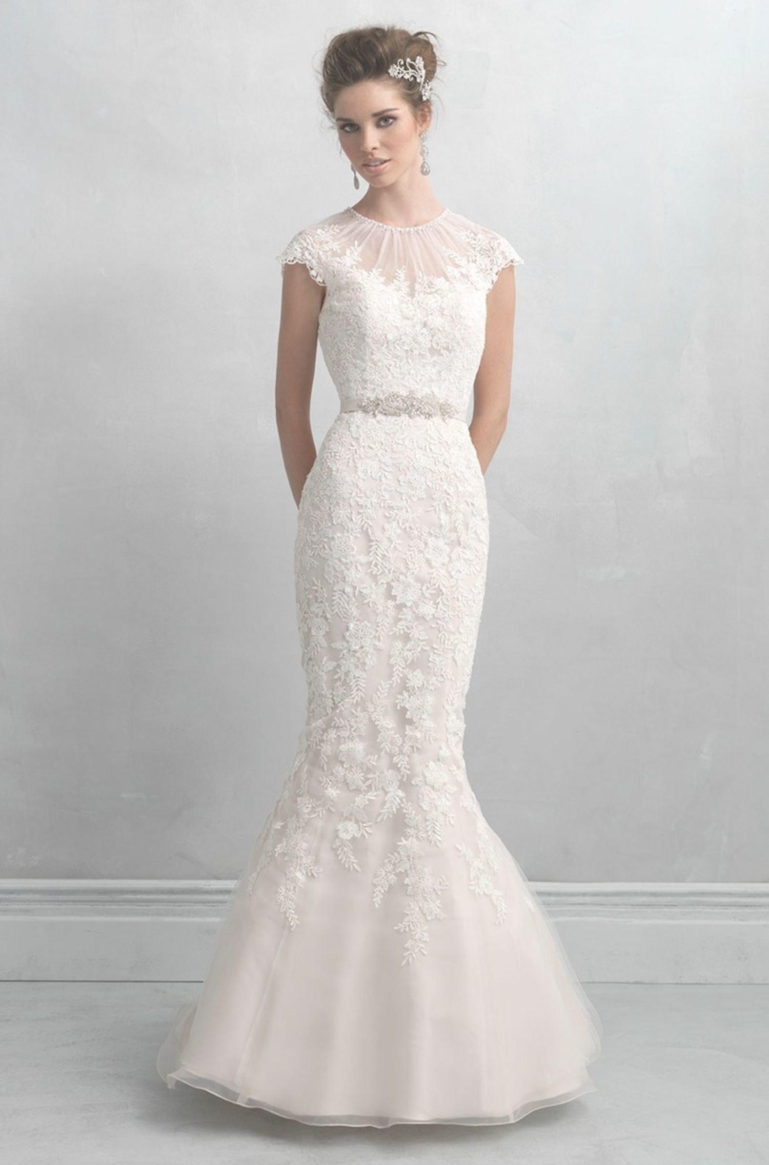 illusion wedding dresses photo - 1