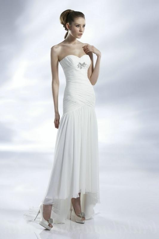 inexpensive casual wedding dresses photo - 1