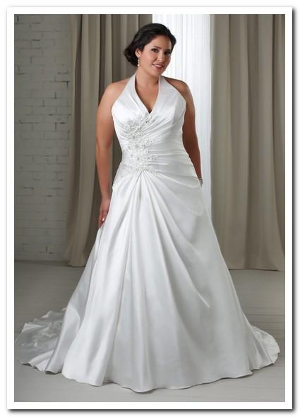 inexpensive wedding dresses plus size photo - 1