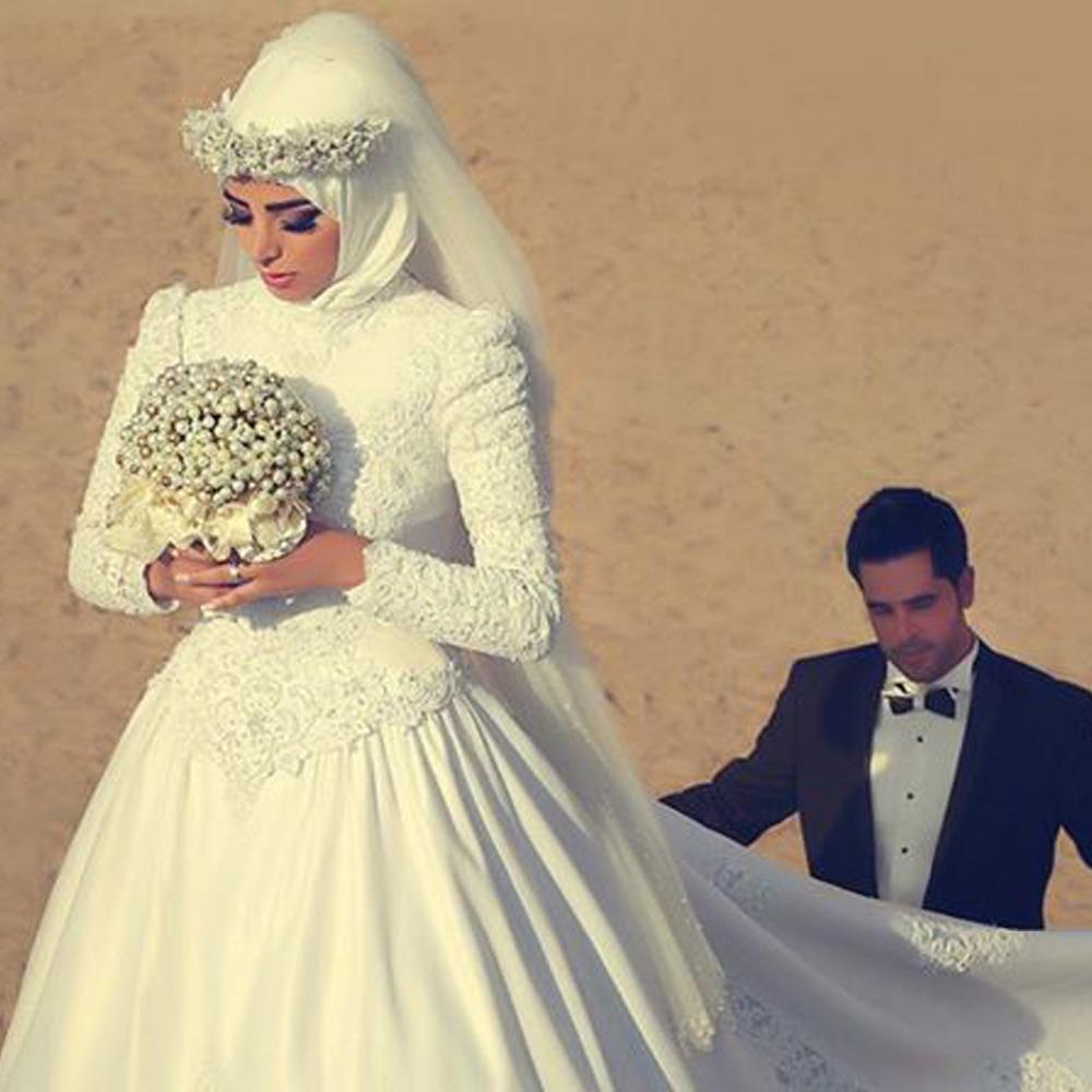islamic wedding dresses with hijab for sale photo - 1