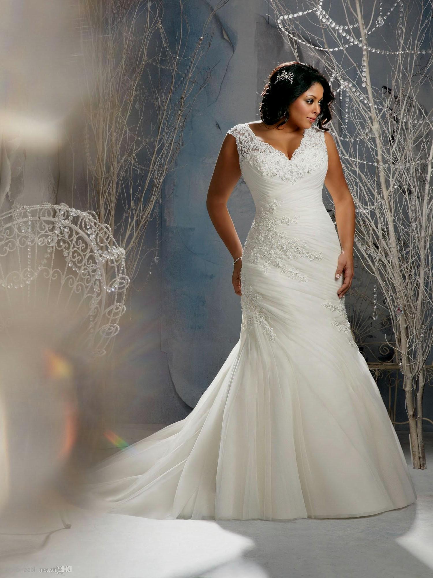 ivory wedding dresses plus size photo - 1