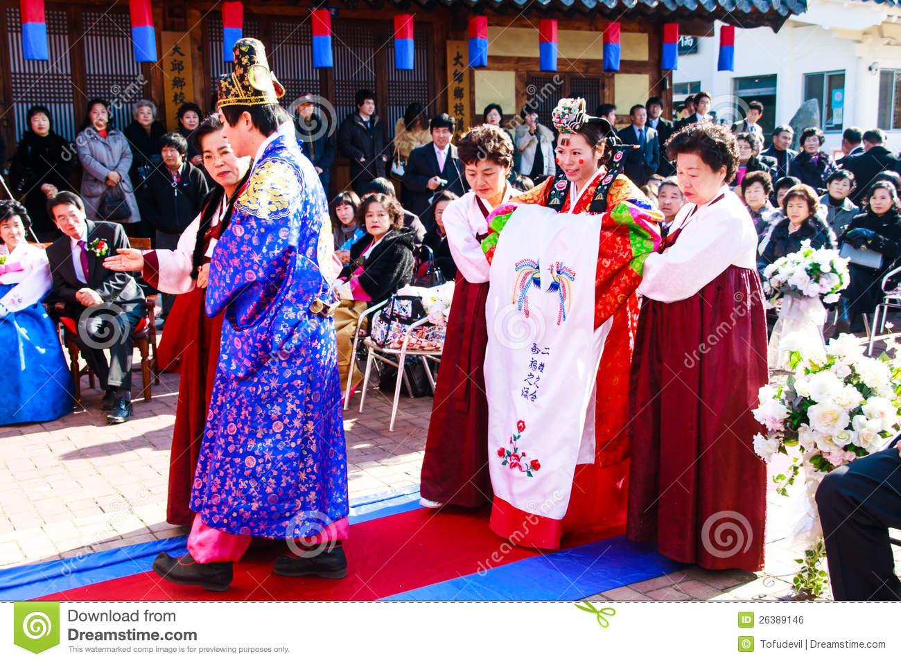 korean traditional wedding dresses photo - 1