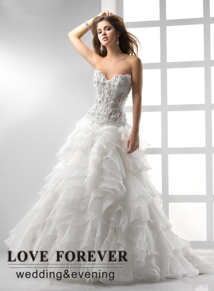 lace corset wedding dresses photo - 1