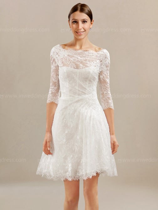lace fitted wedding dresses photo - 1