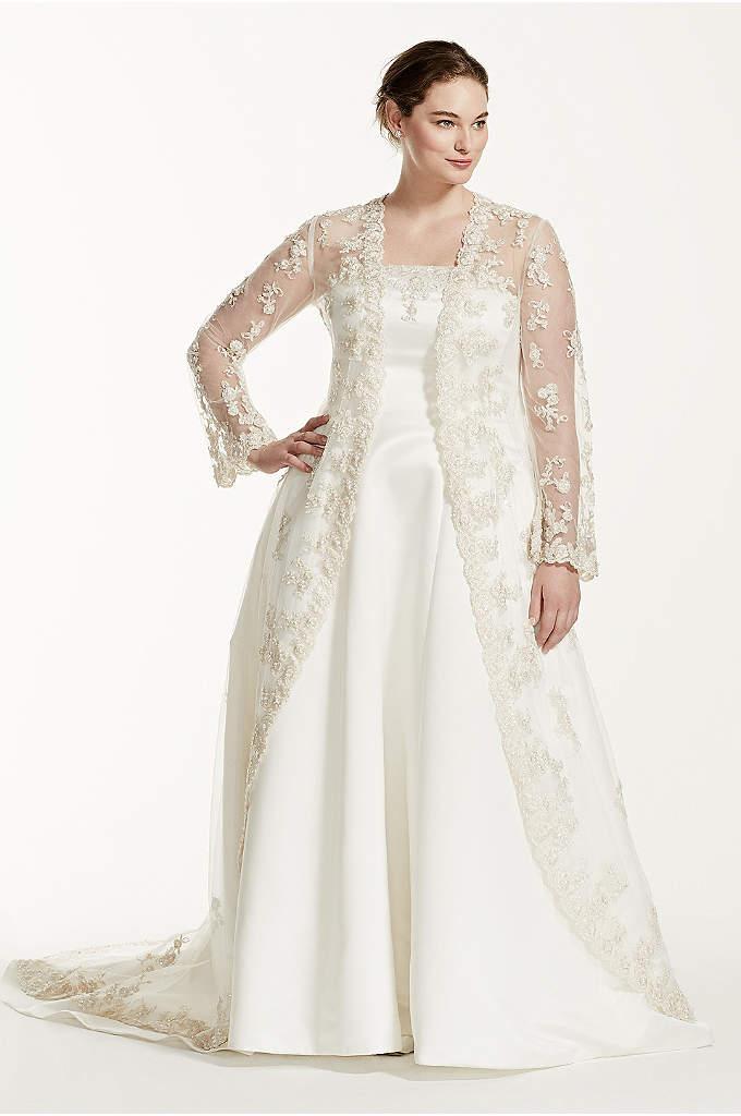 lace jacket wedding dresses photo - 1