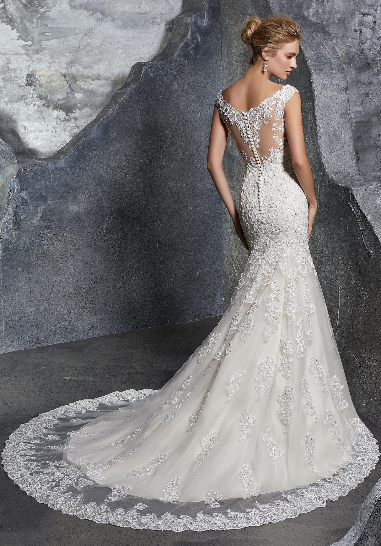 lace sheath wedding dresses photo - 1