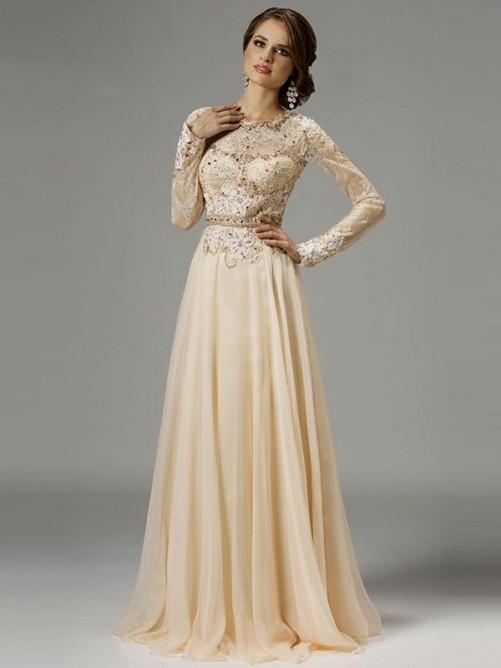 lace wedding dresses long sleeve photo - 1