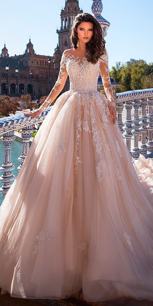 lace wedding dresses long sleeves photo - 1