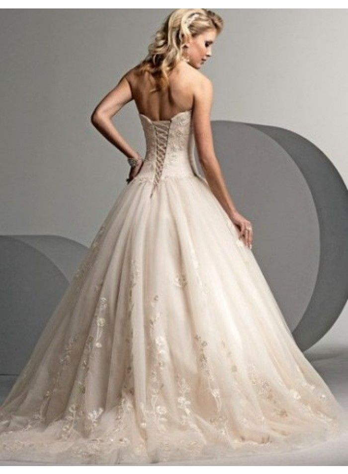 lace wedding dresses with train photo - 1