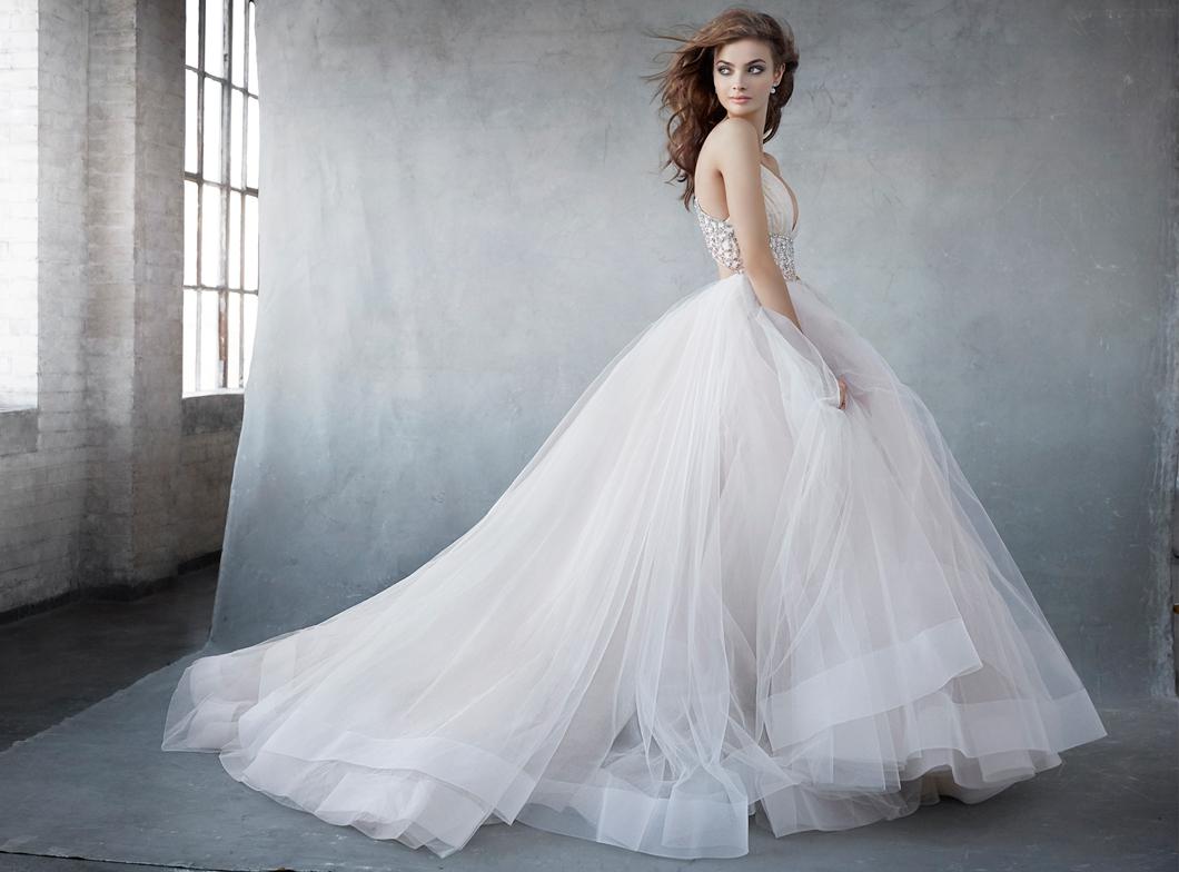 lazaro wedding dresses price photo - 1