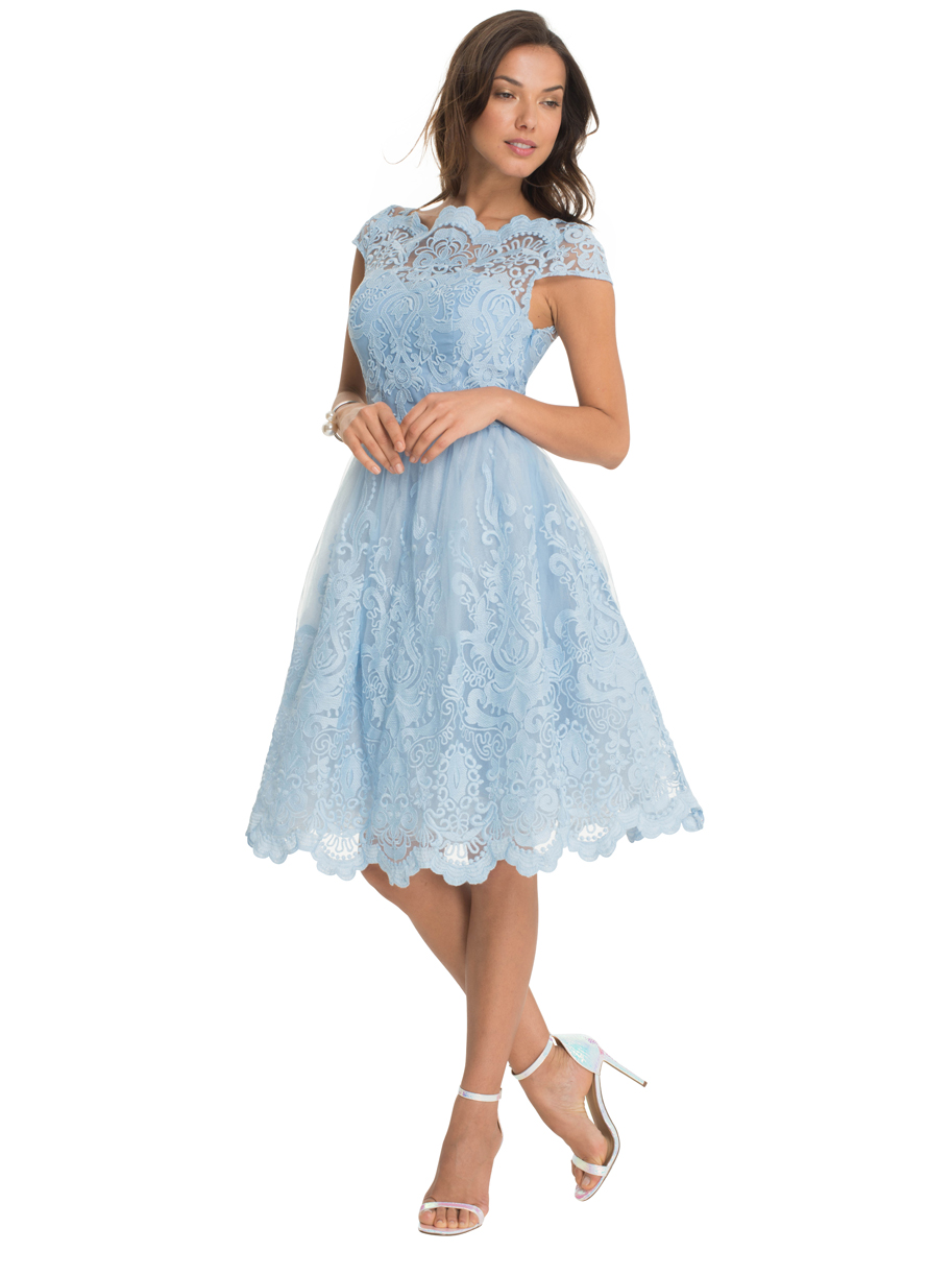 light blue dresses for wedding photo - 1