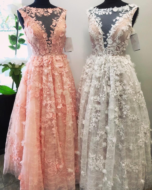 light pink plus size wedding dresses photo - 1