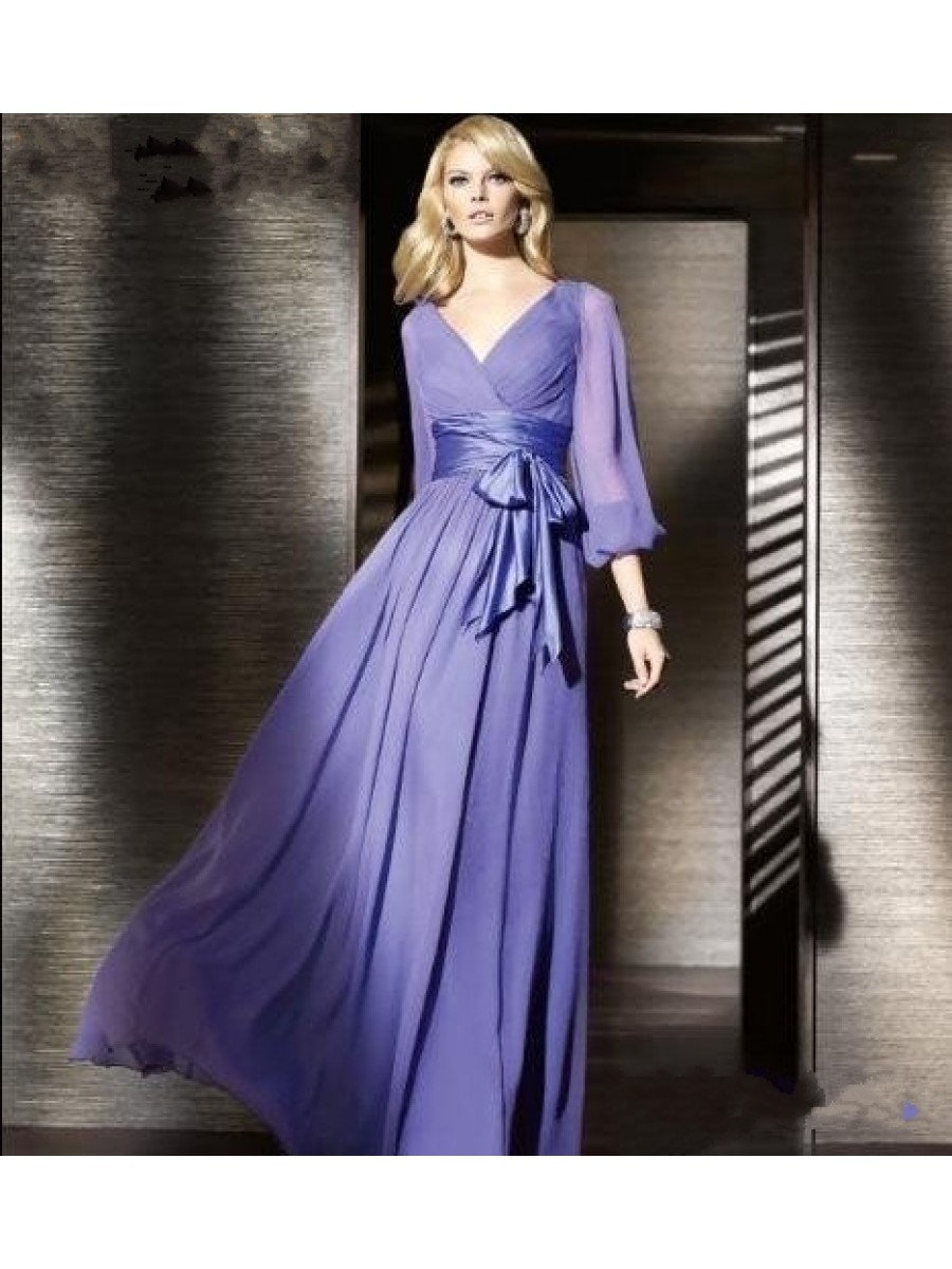 long dresses for wedding guest cheap photo - 1