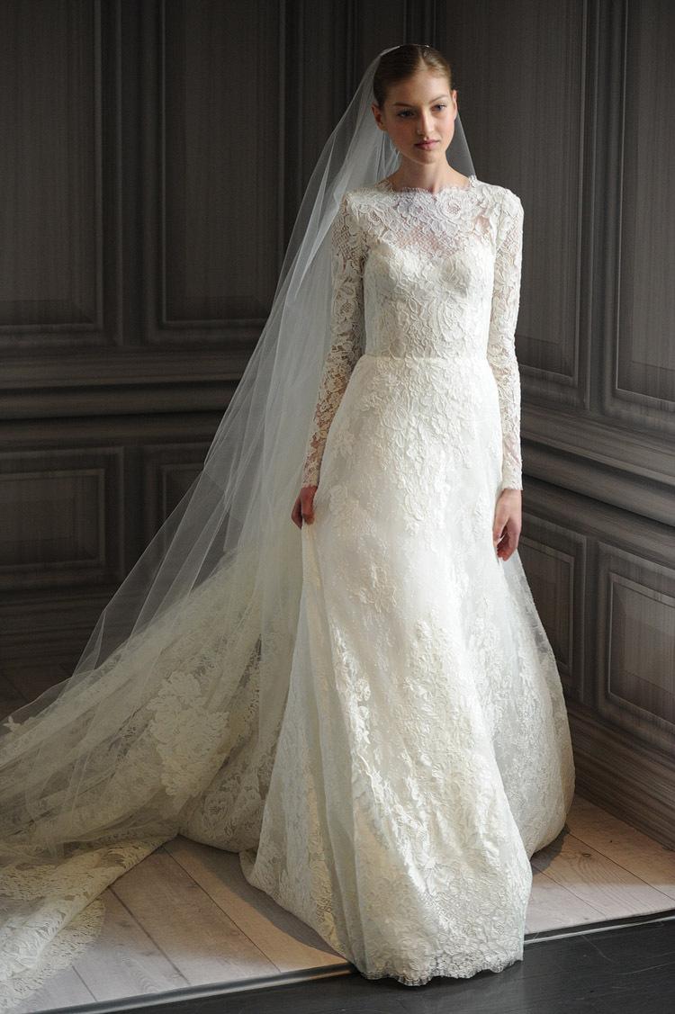 long sleeve lace wedding dresses photo - 1