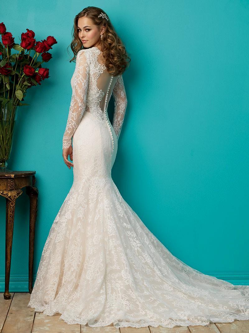 long sleeve mermaid wedding dresses photo - 1