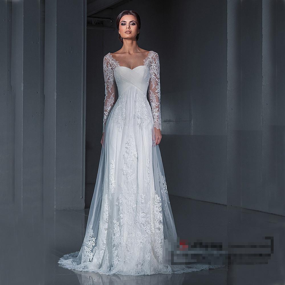 long sleeve wedding dresses vera wang photo - 1