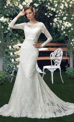 long sleeved wedding dresses for sale photo - 1