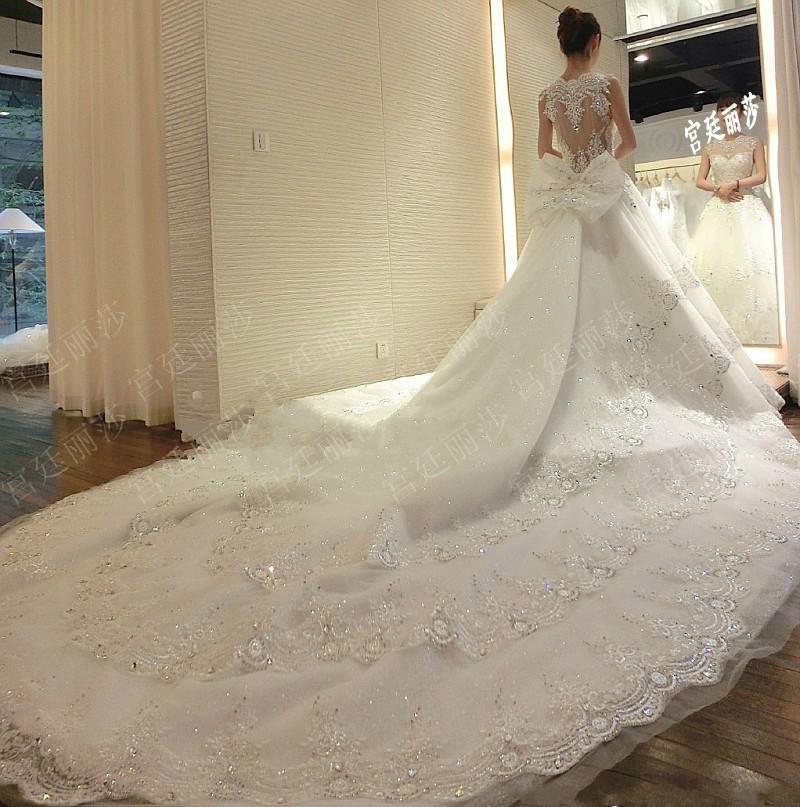 long train wedding dresses photo - 1