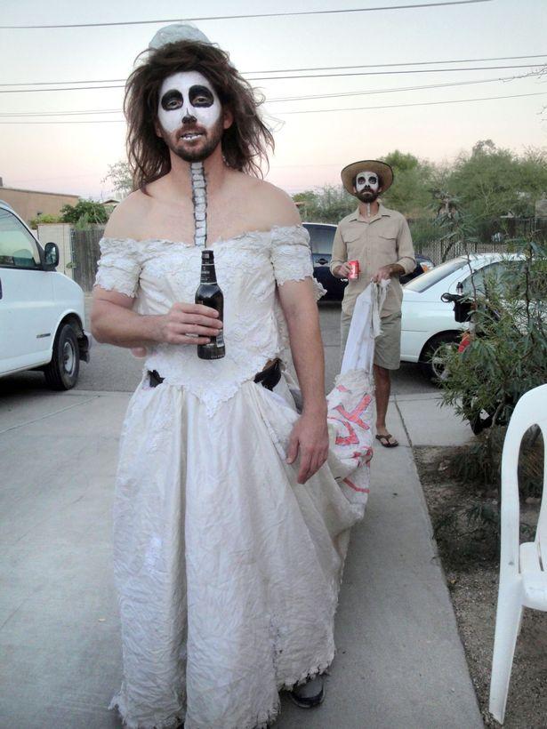 men wearing wedding dresses photo - 1